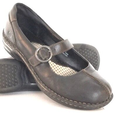 BORN Black Leather Mary Janes Shoes Women's Size 9 / 40.5