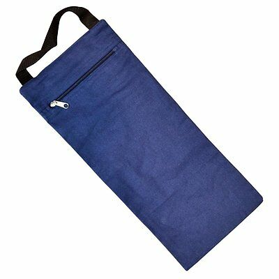 YogaDirect Unfilled Yoga Sand Bag, Blue, 7.5 x 17-Inch