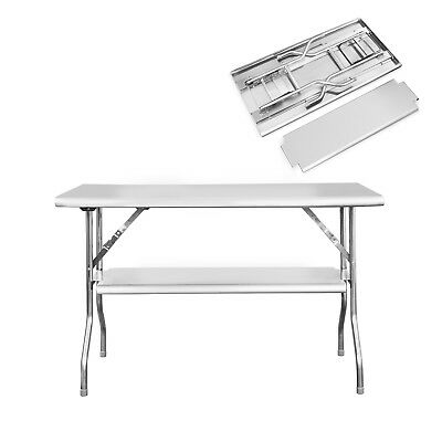 "Royal Gourmet Stainless Steel Double-shelf Folding Work Table 48"" L x 24"" W"