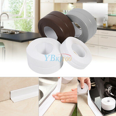 Waterproof Bath Wall Sealing Strip 22MM/38MM Sink Basin Edge Trim Kitchen Tools