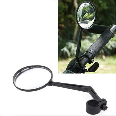 Black For Handlebar Motorcycle Bicycle Side Rear View Rearview Mirror CC