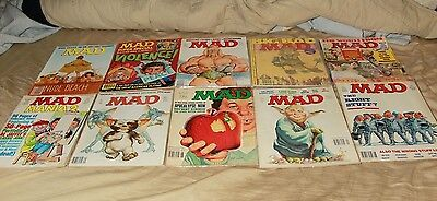 Lot of 10 mad magazines from the 1980s and 90s