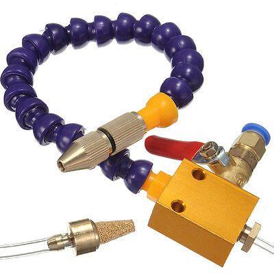 Mist Coolant Lubrication Spray System Unit For 8mm Air Pipe CNC Lathe Mill Drill