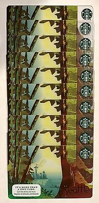 Lot of 10***LIMITED Edition Starbucks SEATTLE Gift Card 2016 - NEW
