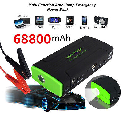 12V 68800mAh Car Jump Starter Pack Booster Charger Battery Portable Power Bank