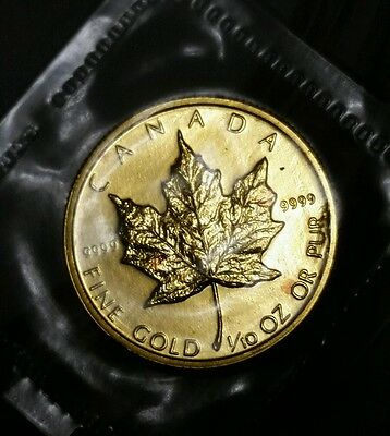 1984 Canada Gold 1/10th ounce maple leaf- sealed-9999 gold