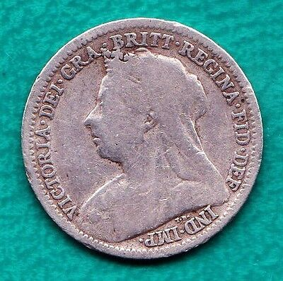 Silver Great Britain 1900 Silver 3 Pence