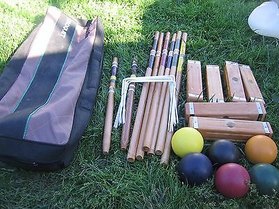 Franklin  croquet set 6 player in bag NICE  condition lawn game FUN
