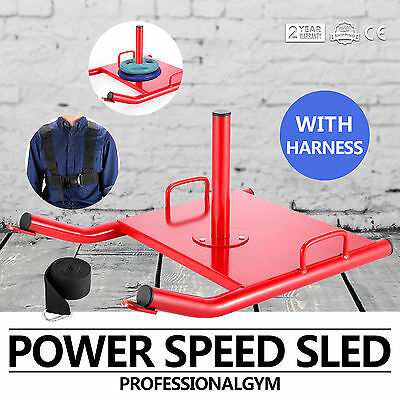 Power Resistance Strength Drag Agility Training Fitness Speed Sled With Harness