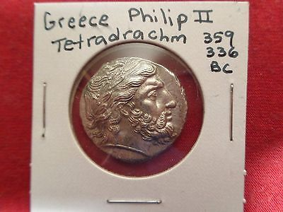 Philip the 2nd -Tin Remake Of Ancient Greek  Tetradrachm  Coin