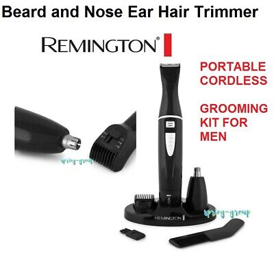 Remington Cordless Beard Trimmer Mens Shaver Groomer Nose Face Grooming Kit