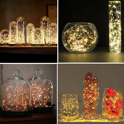 Submersible Wire String Light Battery Powered LEDs For Party Wedding Table Decor