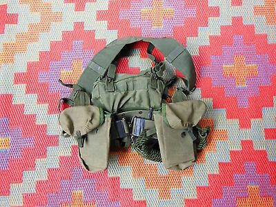 Australian Vietnam Style Webbing Harness Toggle Rope Slr Pouches Etc