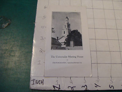 vintage travel brochure: undated early UNIVERSALIST MEETING HOUSE provincetown