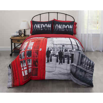 London Bedding set Big Ben Style Full size Bed In a Bag English soft comforter