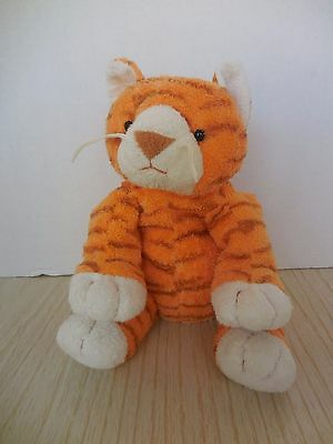 TY Pluffies PURRZ the Tiger Plush Baby Lovey 2003 Orange Striped Tabby Cat Kitty