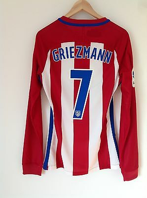 Atlético de Madrid 2016/17 Griezmann La Liga Player Issue Shirt. Jersey.