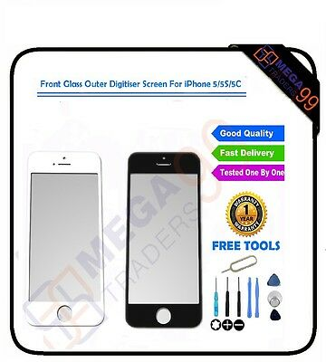 Front Glass Outer Digitiser Replacement Screen Lens FOR APPLE iPhone 5 5S 5C UK