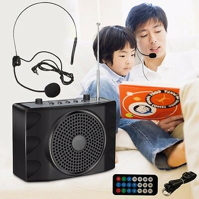 ELE 38W Waistband Voice Amplifier Booster Loud Speaker Microphone For Teaching