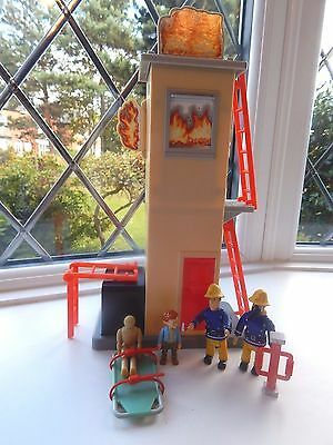 Fireman Sam And Naughty Norman Price Figures + Training Tower And Accessories