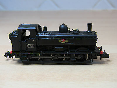 Dapol N gauge Pannier BR Black 3702 late crest, DCC fitted. NOT PERFECT