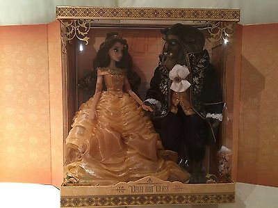 BNIB Disney Store *BEAUTY AND THE BEAST* Belle Platinum Doll Set Limited Edition