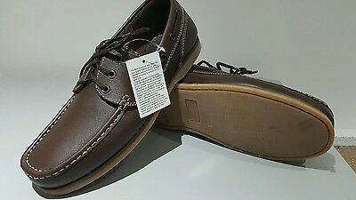 Boat Deck Shoes British Military Issue Leather Uppers Size 10
