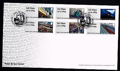 GB 2017 Royal Mail Post & Go Mail by Rail First Day Cover Unaddressed