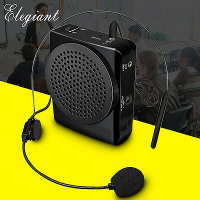 ELE Portable Voice Amplifier Megaphone Loudspeaker Teaching Microphone Recharge