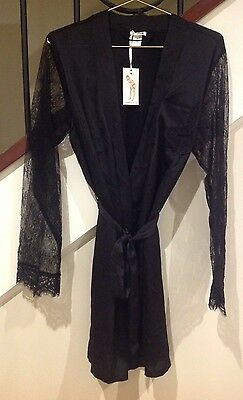 Brand New Bras n Things  Playboy Bunny Indulgence Black Lace Gown  Size Small