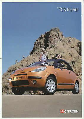 CITROEN C3 PLURIEL original 2002 2003 UK launch brochure leaflet