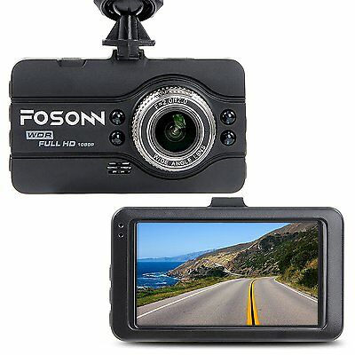 Dashboard Camera,FOSONN Dash Cam HD 1080P 170°Wide Angle Car Video Recorder 3""