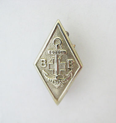 Vintage Boys Brigade Sure & Stedfast One Year Service Pin Badge