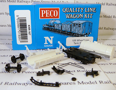 Peco Quality Line Wagon KNR-167 10Ft Tank Wagon Kit
