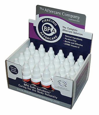 Piercing Aftercare 24 x 10ml- Fast healing