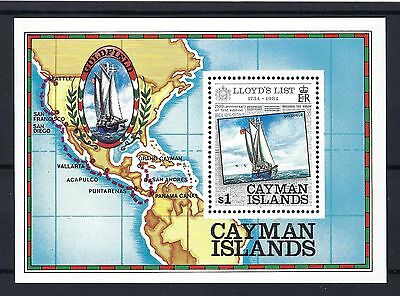 Cayman Islands Small Sheet Sg Ms590 1984 Lloyds List Mnh Post Free To The Uk.