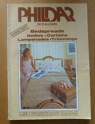 PHILDAR 1970s HOUSEHOLD CROCHET PATTERN BOOK No 3  BED COVERS CUSHIONS MATS