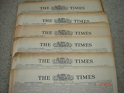 The Times Newspaper 2nd 3rd 21st 23rd March 1945