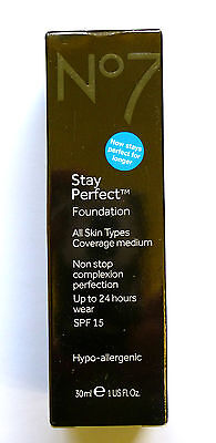 No7 Stay Perfect Foundation 30ml Various Please Use Drop Down Menu