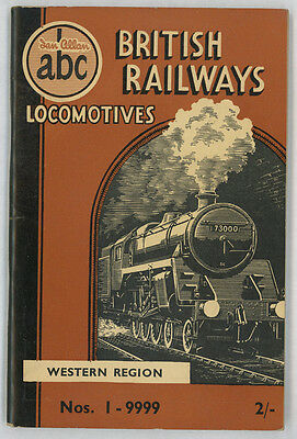 Ian Allan ABC British Railways Locomotives Western Region Nos 1 - 9999 Sept 1951