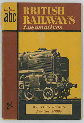 Ian Allan ABC British Railways Locomotives Western Region Nos 1 - 9999 1953