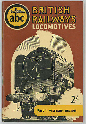 Ian Allan ABC British Railways Locomotives Part 1 Western Region Spring 1955
