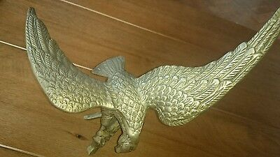 vintage collectible pair brass eagles