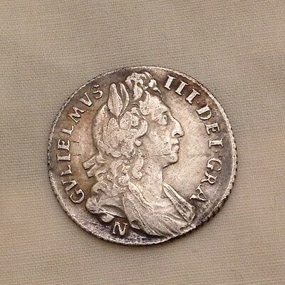 william iii sixpence Norwich mint metal detecting find 3rd