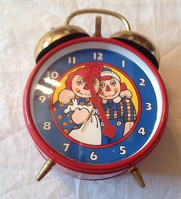 Raggedy Ann and Andy Alarm Clock 1971 The Bobbs Merrill Company Inc West Germany