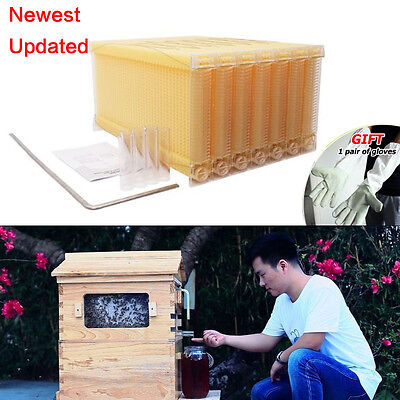 7Pcs Upgraded Auto Honey Beehive Frames Beekeeping Kits Hive Frames Harvest