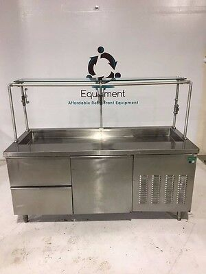 Craig Stainless Steel Commercial Buffet Cold Table Refrigerator Door and Drawers