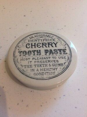 Victorian Cherry Tooth Paste Pot Lid