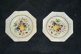 Wade  Small Hexagonal Dishes Fruit Pattern design x2