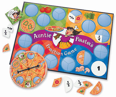 Learning Resources Auntie Pasta's Fraction Game For Kids - Maths **New**